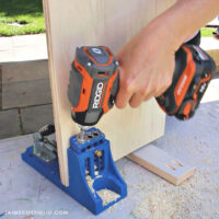 ridgid impact driver drilling pocket hole