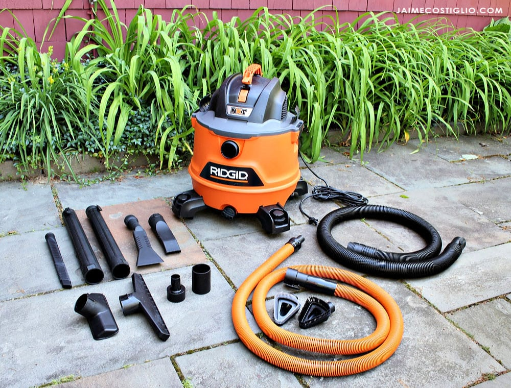 ridgid wet dry vac with auto detail kit parts