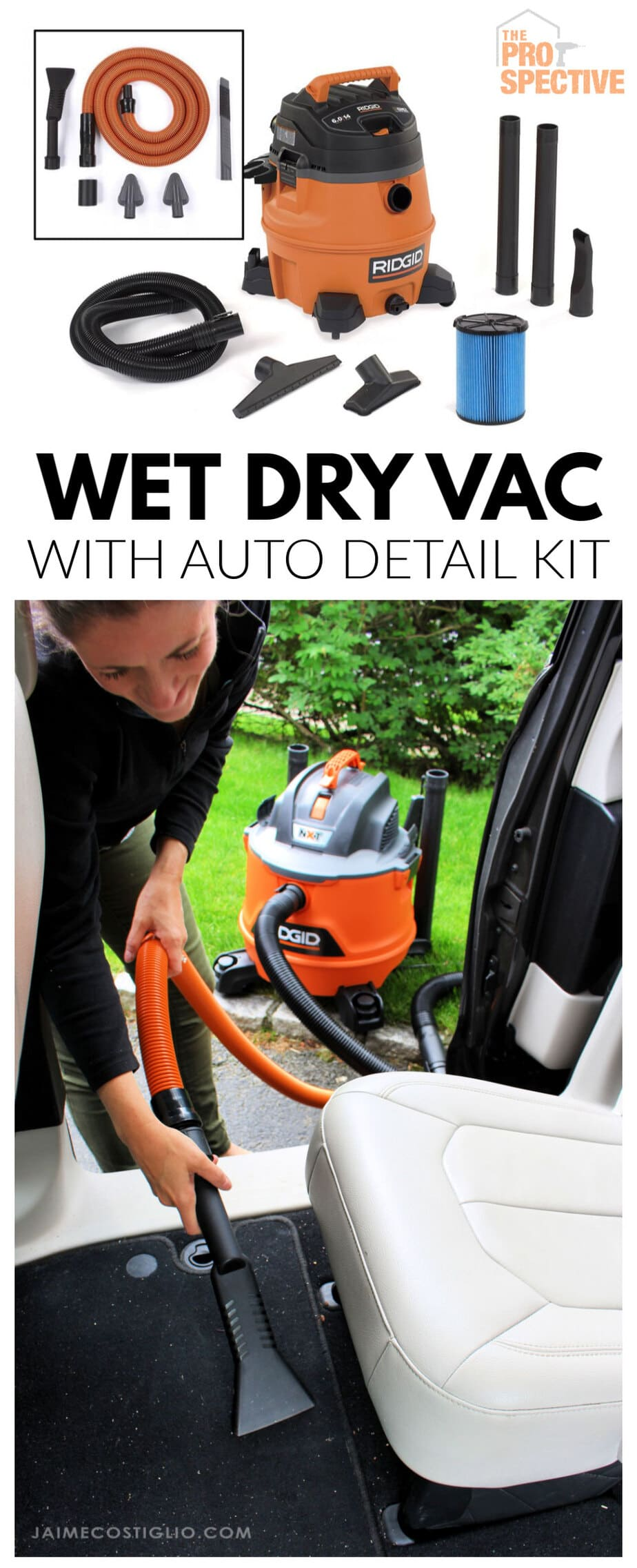 ridgid wet dry vac with auto detail kit