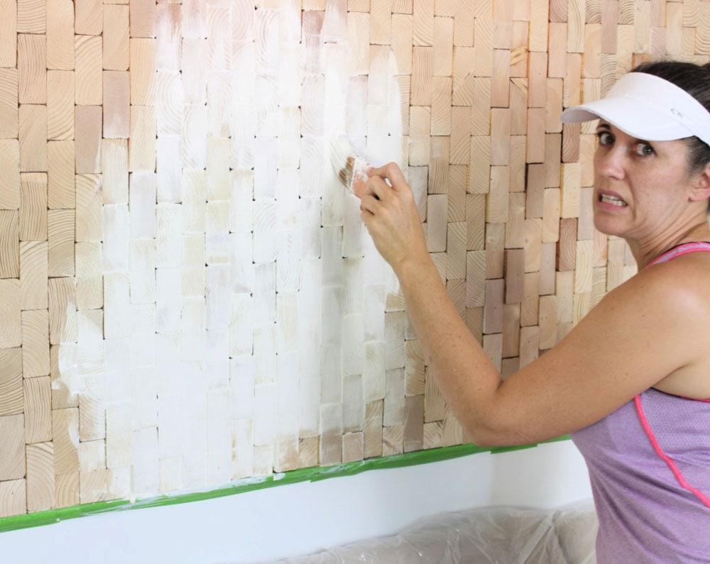 jaime costiglio painting scrap wood wall