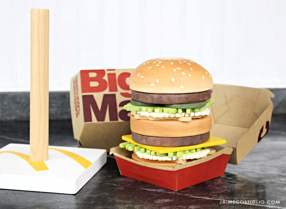 stacking big mac toy