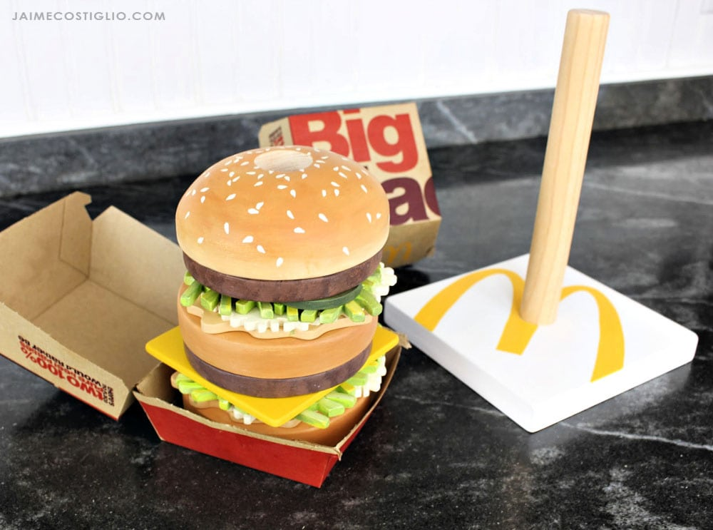 fake big mac in box