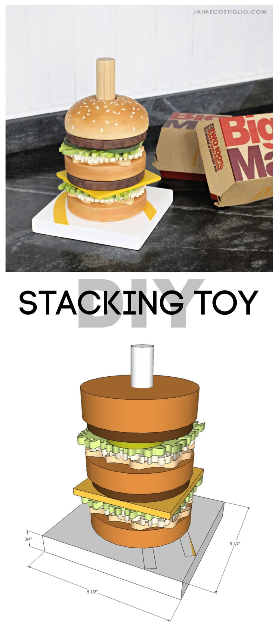 diy stacking toy free plans