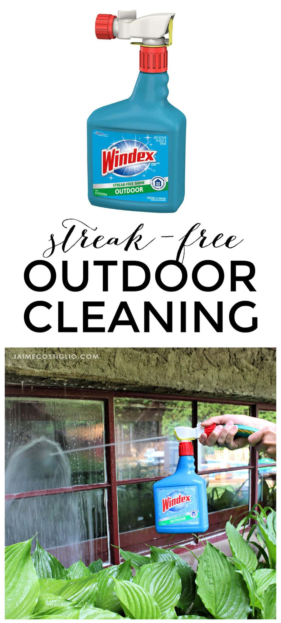 streak free outdoor cleaning