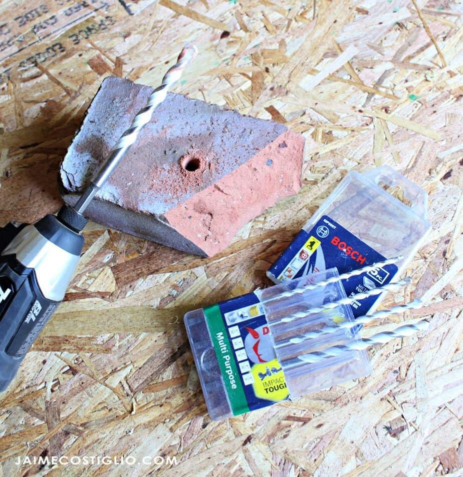 bosch multi material bits into brick