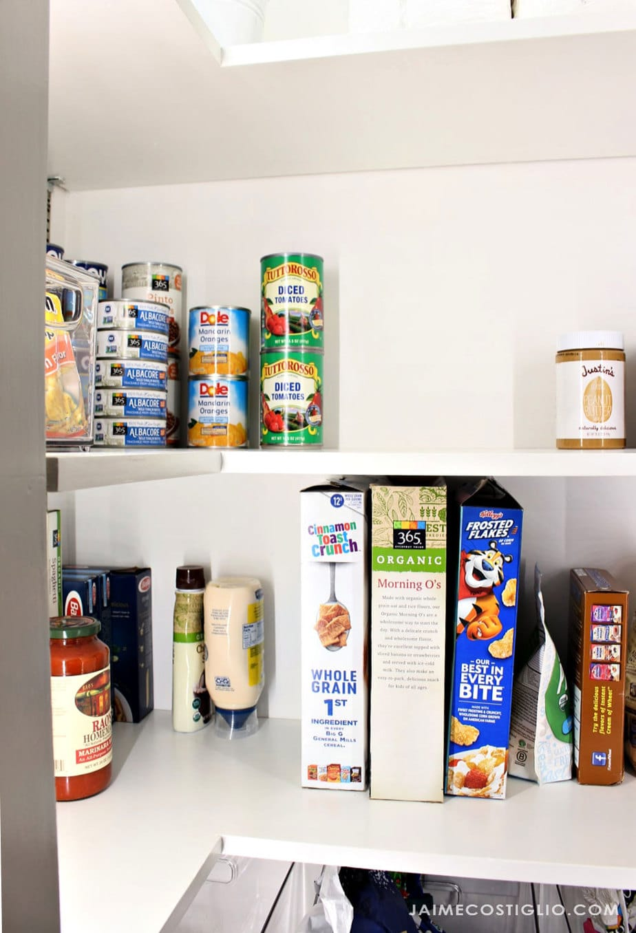 inexpensive pantry makeover after