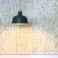 2x4 scrap wood wall