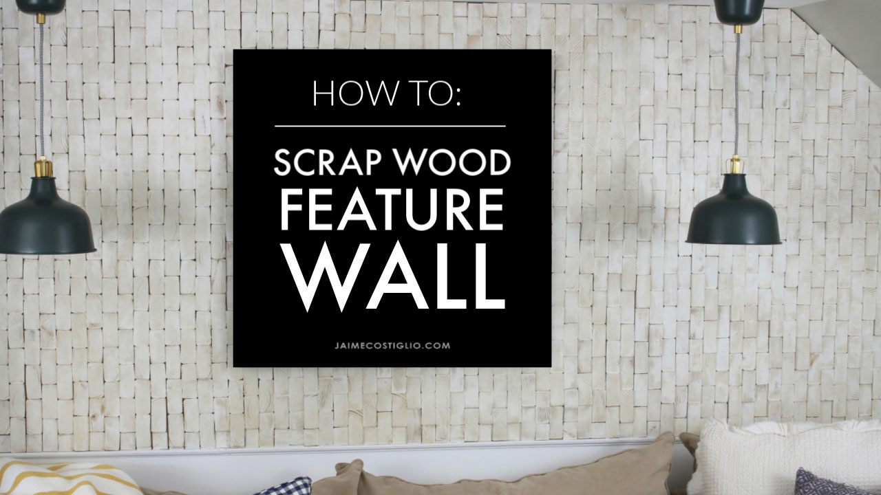 how to make a scrap wood feature wall