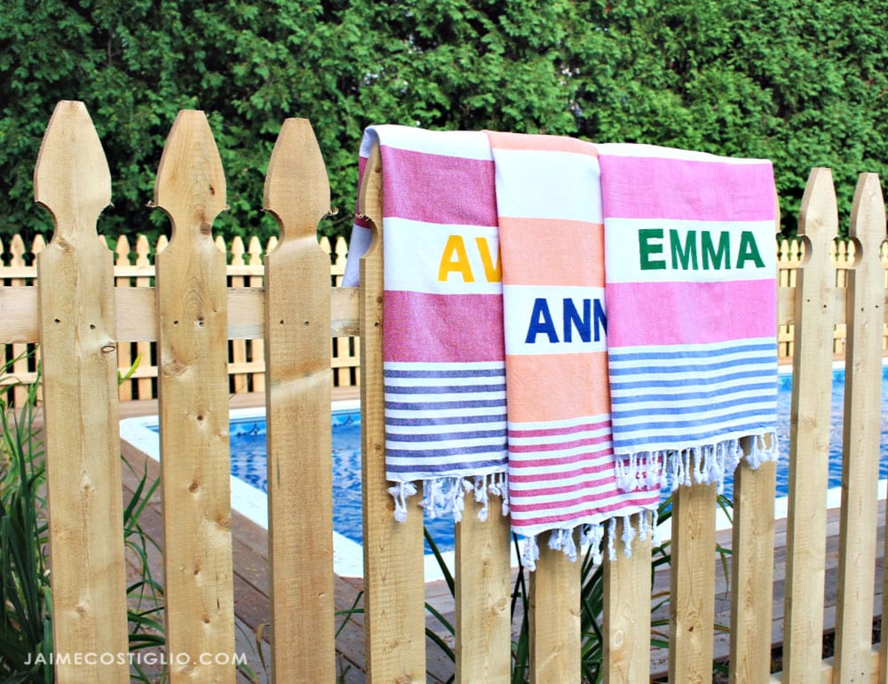 personalized pool towels