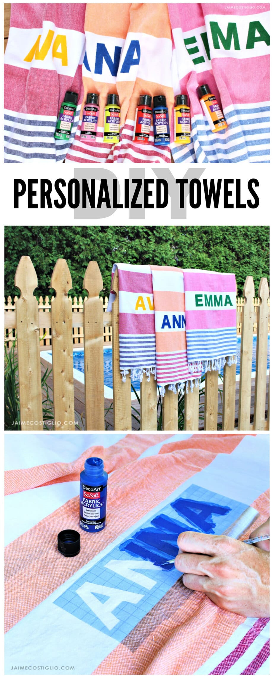 diy personalized turkish towels