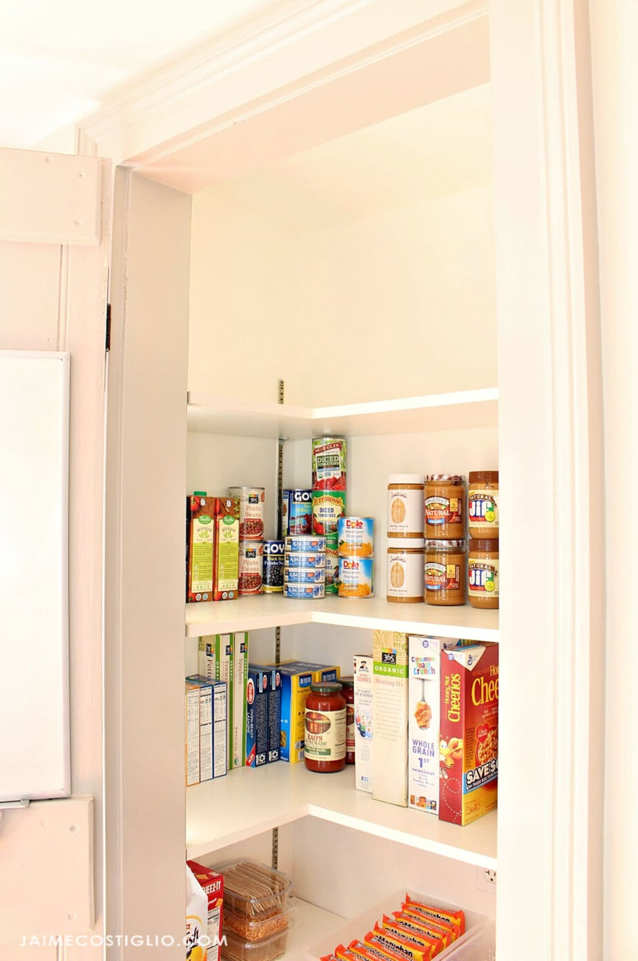 top pantry shelf space before