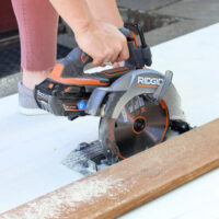 ripping plywood with ridgid octane circular saw