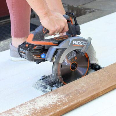 ripping plywood with ridgid octane circular saw