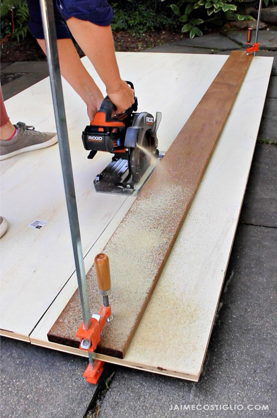 cutting plywood with ridgid octane circular saw