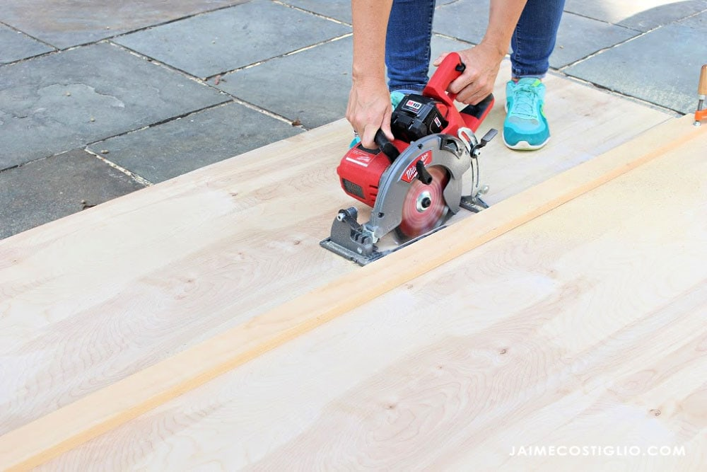 ripping plywood with circular saw