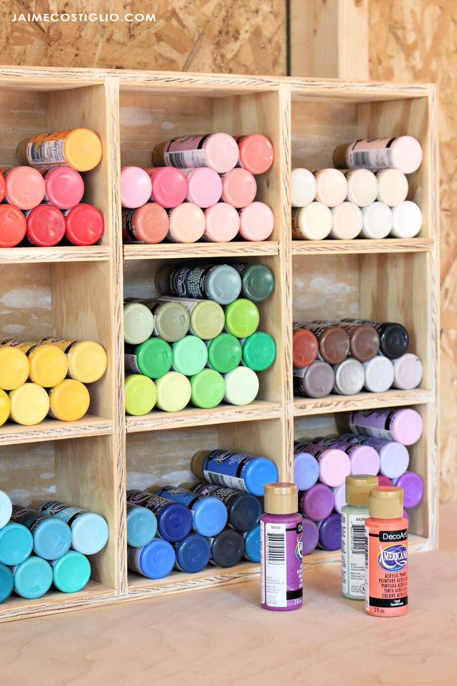 craft paint cubbies