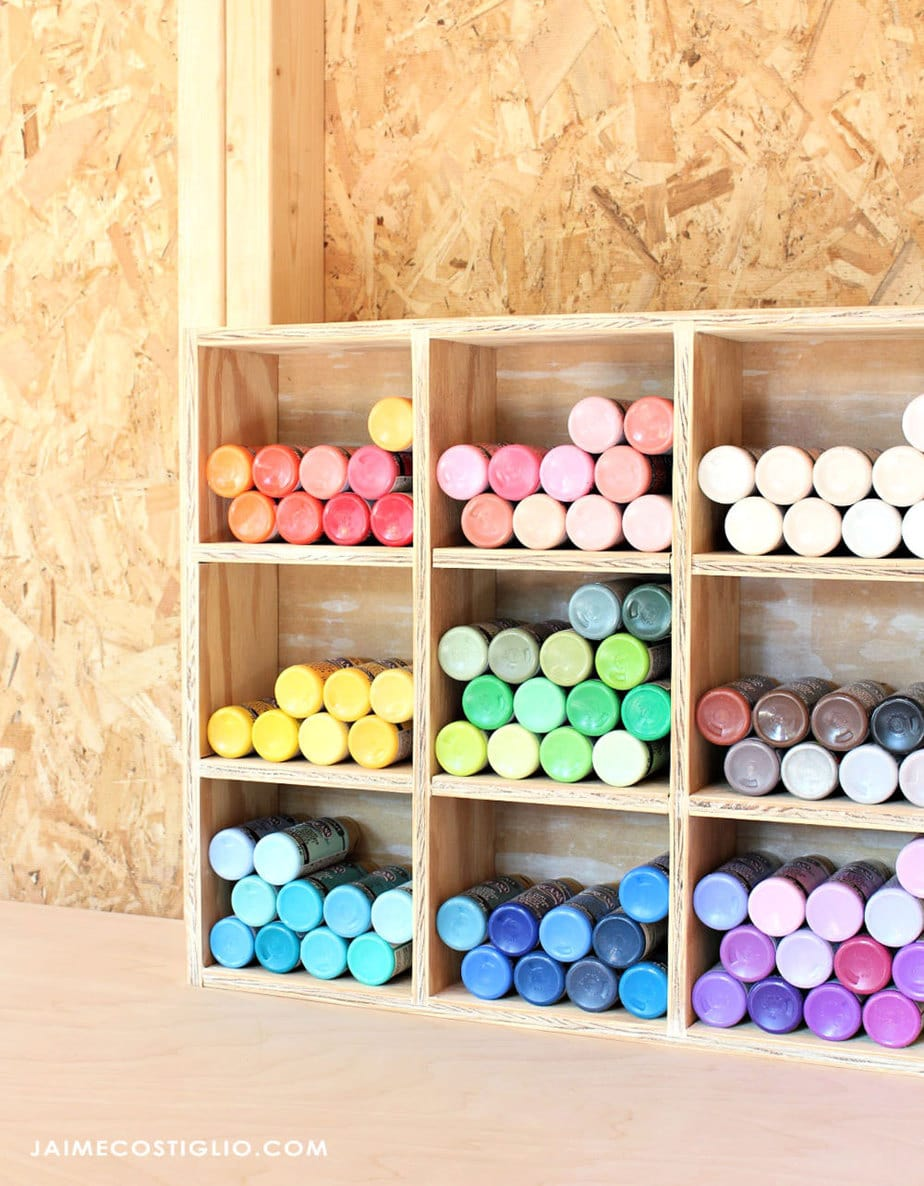 organized craft paint box