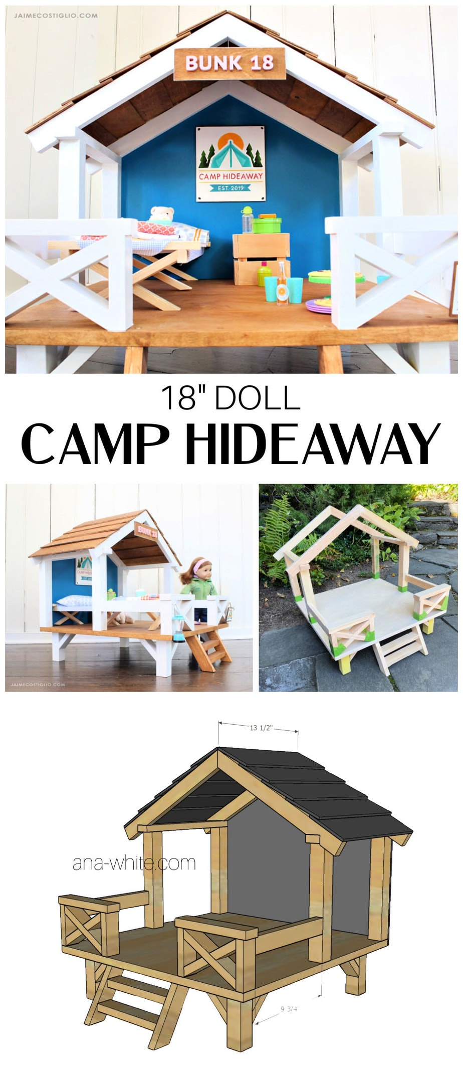 18 inch doll camp hideaway plans