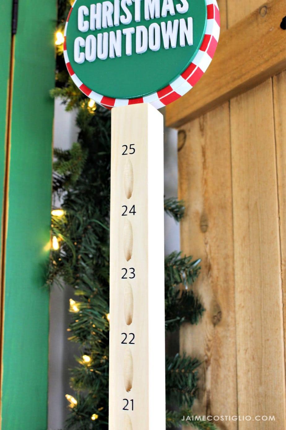 pocket holes for advent calendar