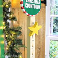 diy wood advent calendar