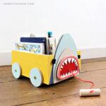 DIY Animal Book Cart