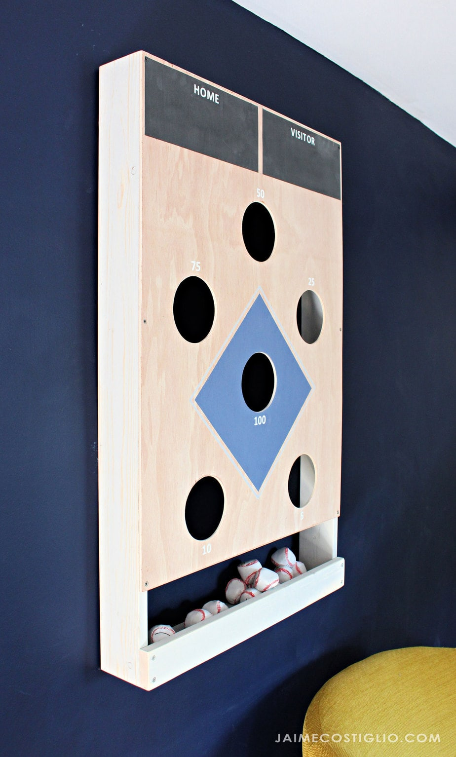 Enjoyable Diy Baseball Beanbag Toss Game Jaime Costiglio Dailytribune Chair Design For Home Dailytribuneorg