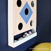 diy baseball beanbag toss game