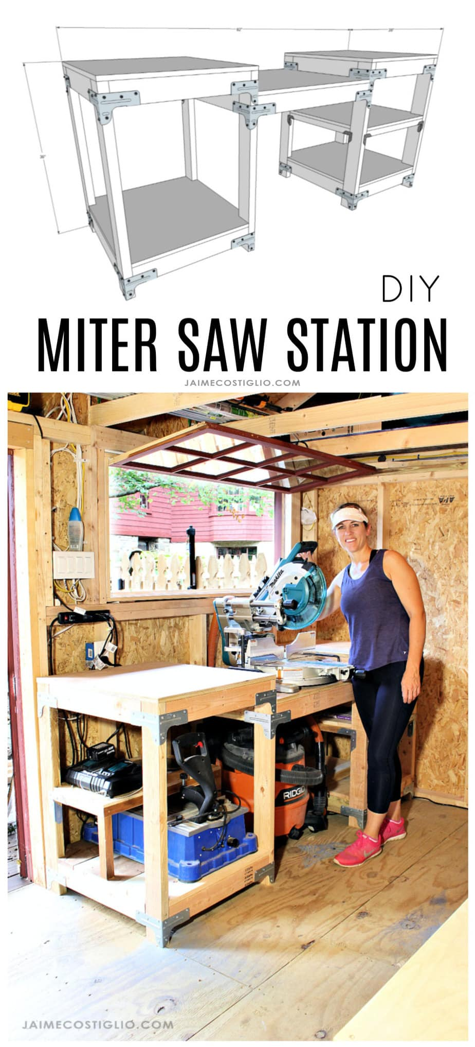 diy miter saw station