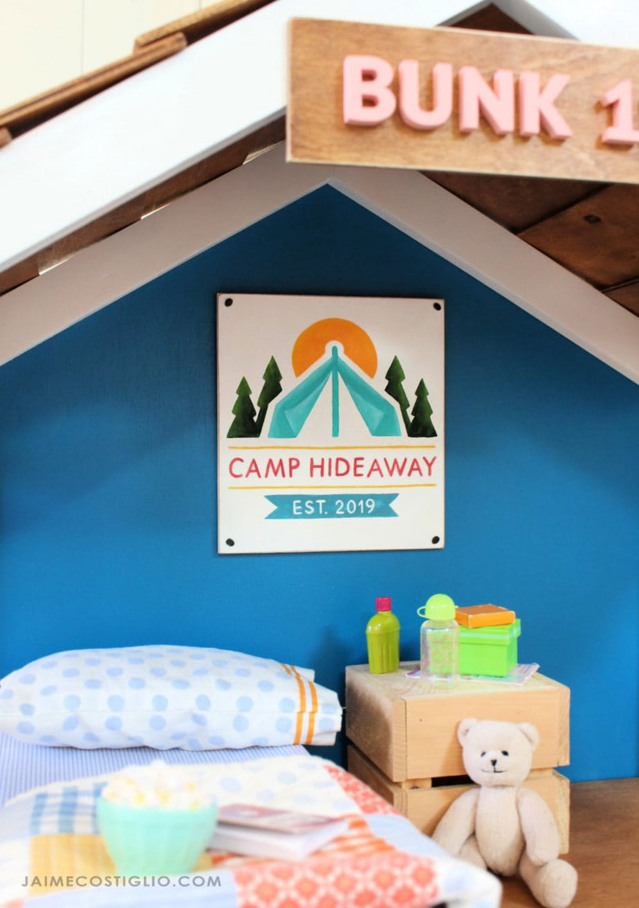 handpainted camp decor