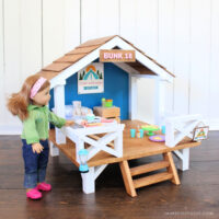 "DIY 18"" doll camp hideaway"