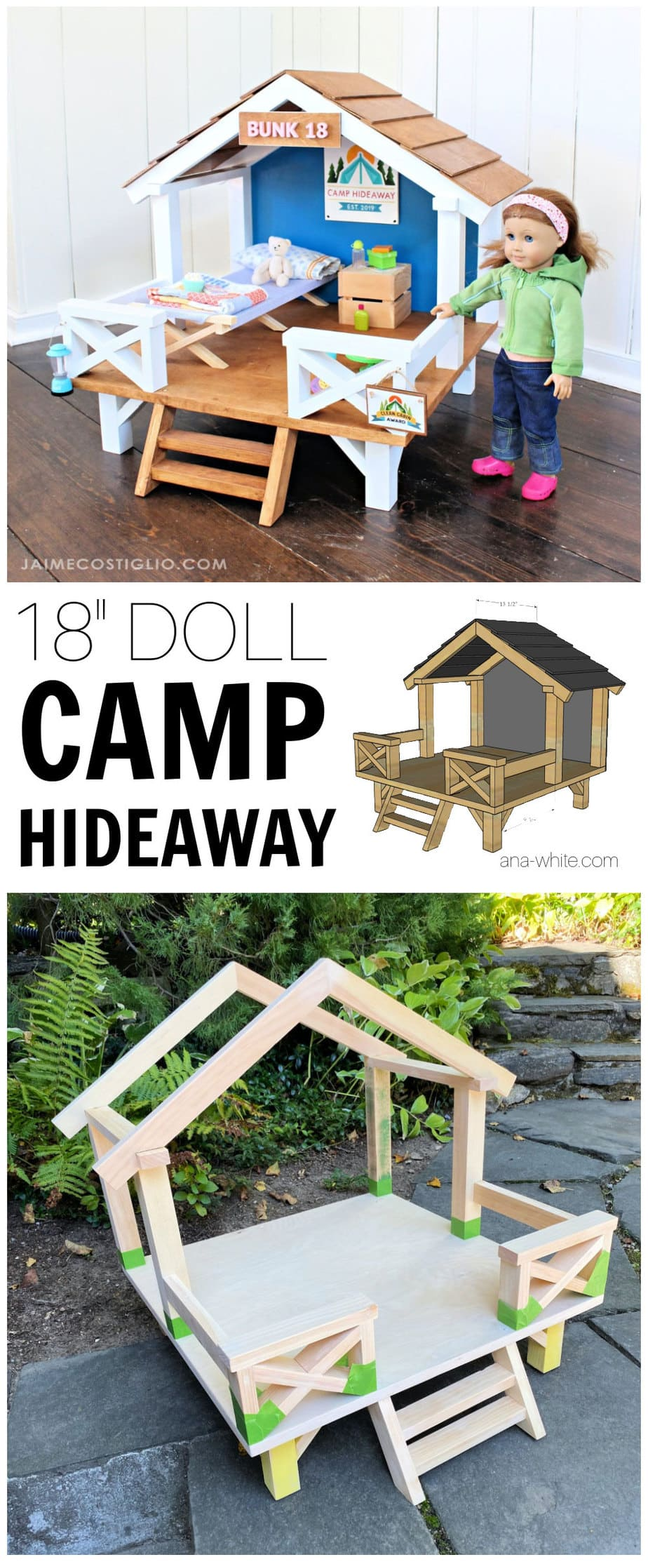 doll camp hideaway free plans