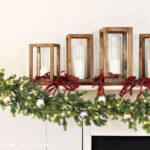 DIY Simple Holiday Mantel