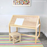 diy house shaped desk