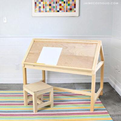 diy house shaped desk