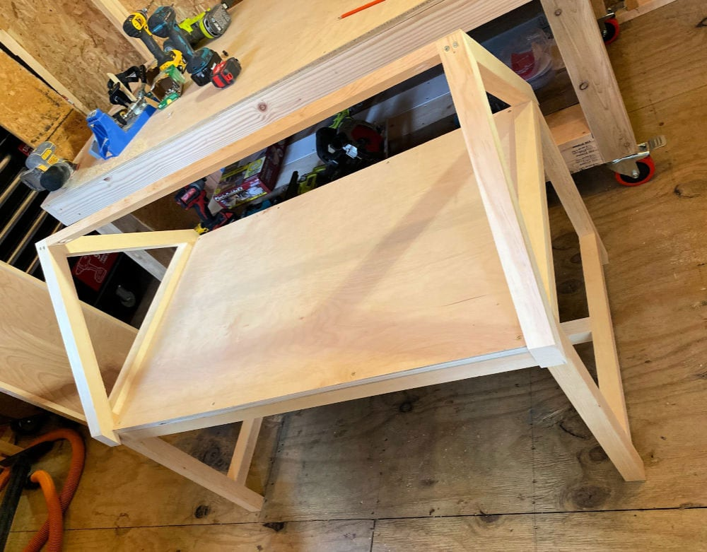 kids play table shelf attached