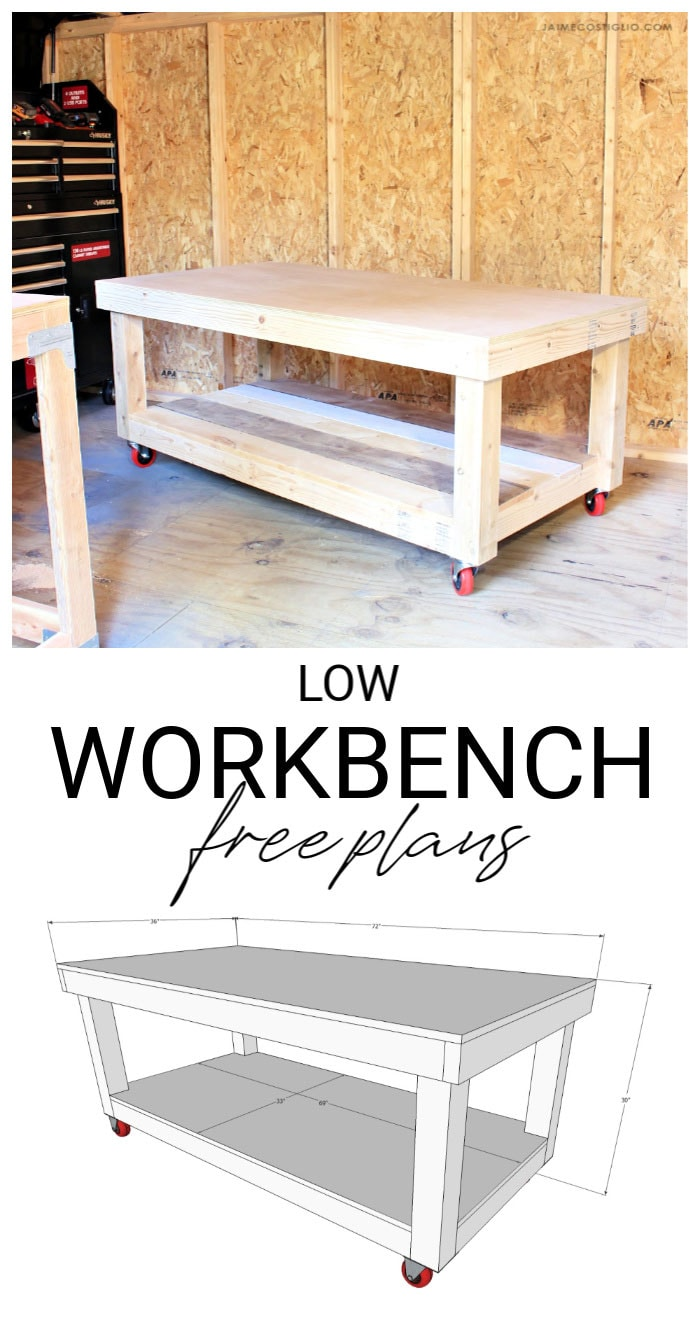 low workbench free plans