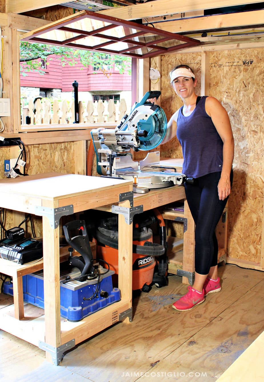 makita miter saw station