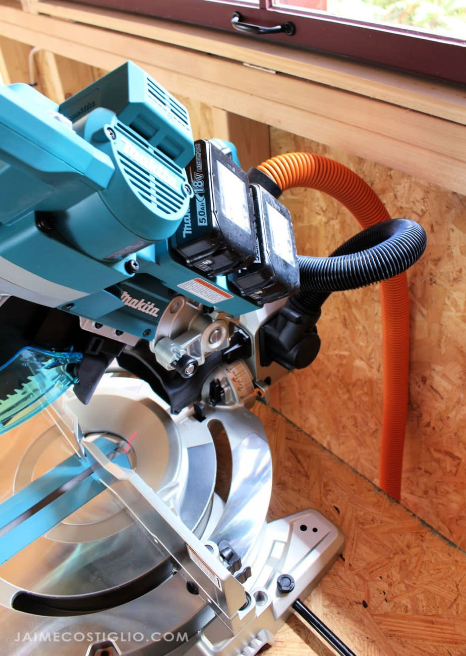 batteries on makita miter saw
