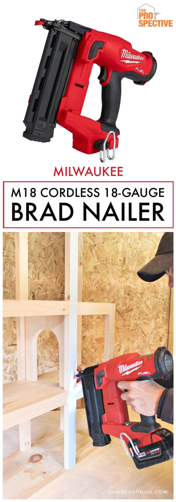 milwaukee 18 gauge brad nailer