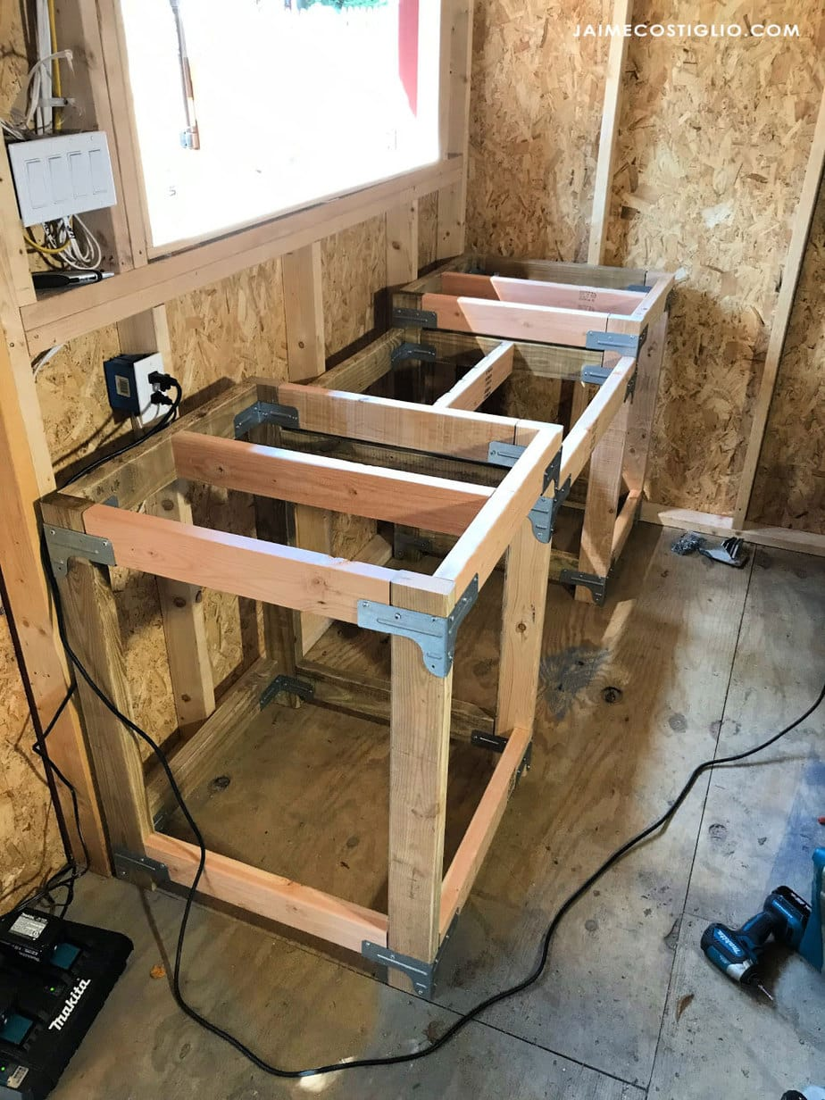 center supports under table tops