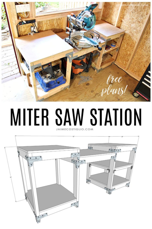 miter saw station free plans