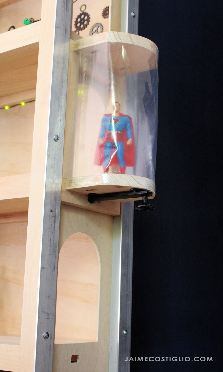 elevator on superhero playhouse