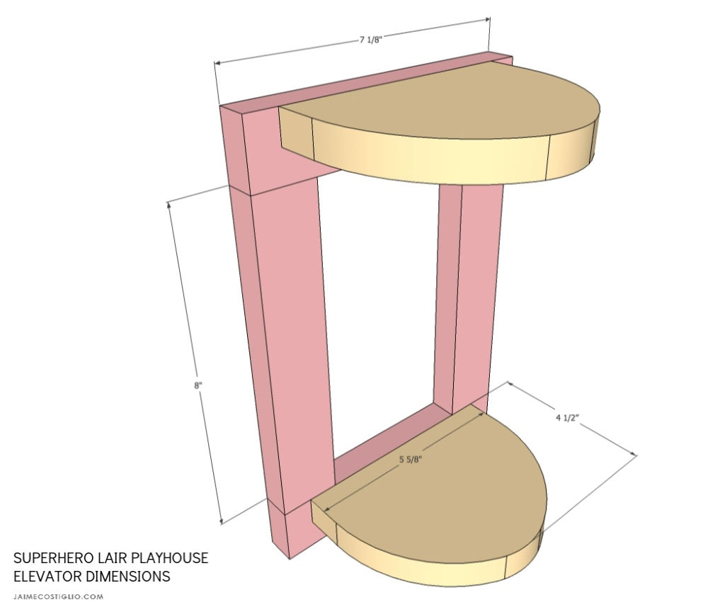 diy playhouse elevator dimensions