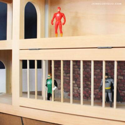 superhero lair playhouse with jail
