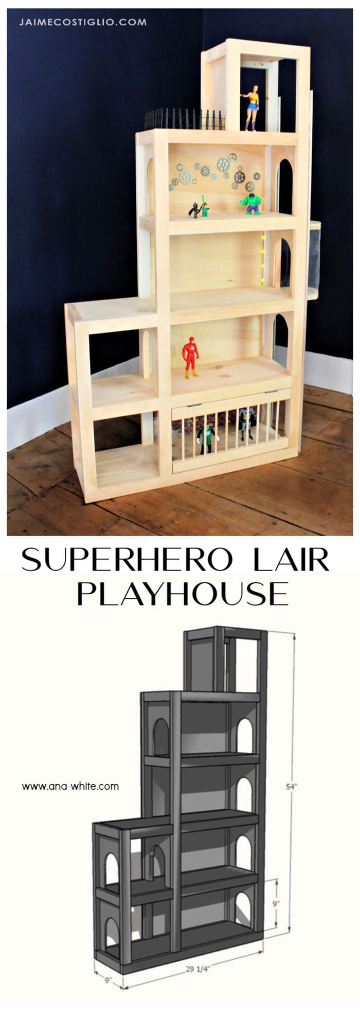 diy superhero lair playhouse free plans