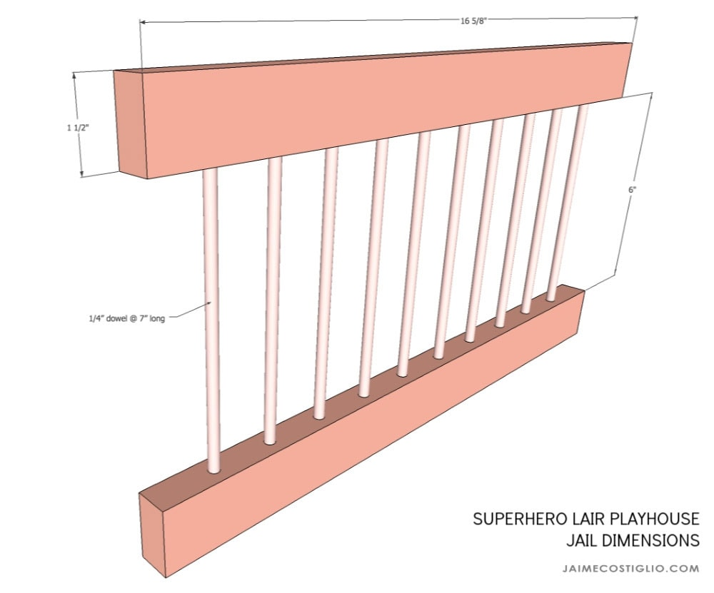 playhouse jail dimensions