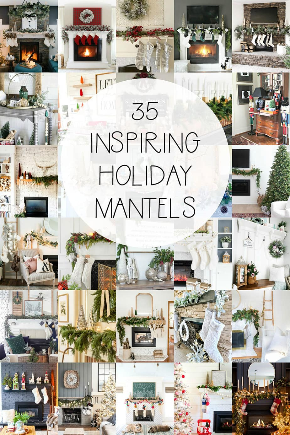 35 inspiring holiday mantels