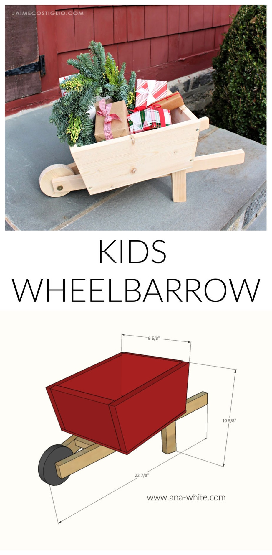 diy kids wheelbarrow free plans