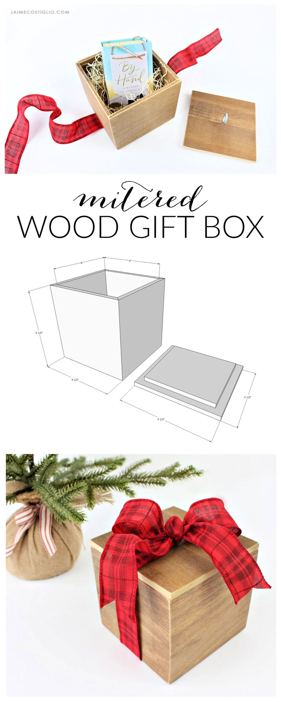 diy mitered wood gift box free plans