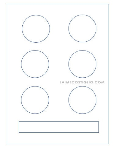eye shadow palette template